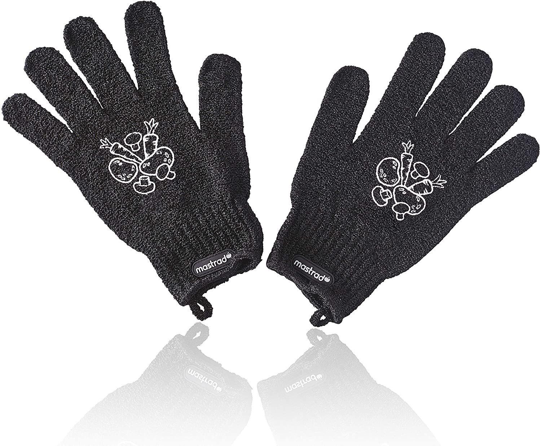 Mastrad Γάντια για Πλύσιμο Λαχανικών Veggie Μαύρα - Σετ 2 Τεμαχίων
