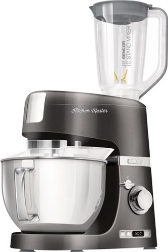 Sencor Κουζινομηχανή με Μπλέντερ 1000W με Ανοξείδωτο Κάδο 4.5lt STM 7878BK 8 Ταχύτητες και 7 Εξαρτήματα