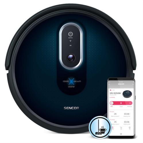 Sencor Σκούπα Ρομπότ Smart με Wi-Fi και Λειτουργία Σφουγγαρίσματος SRV 8250BK