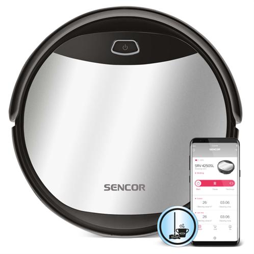 Sencor Σκούπα Ρομπότ Smart με Wi-Fi και Λειτουργία Σφουγγαρίσματος SRV 4250SL