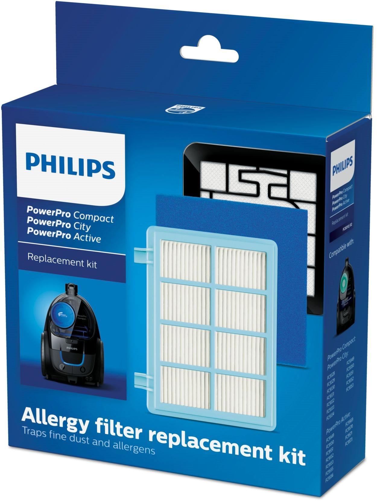 Philips Σετ Ανταλλακτικά Αντιαλλεργικών Φίλτρων 3τμχ για Σκούπες Powerpro Active FC8010/02
