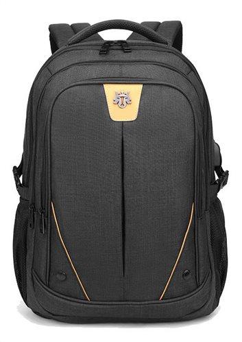 ARCTIC HUNTER τσάντα πλάτης GB00369-BK με θήκη laptop αδιάβροχη μαύρη