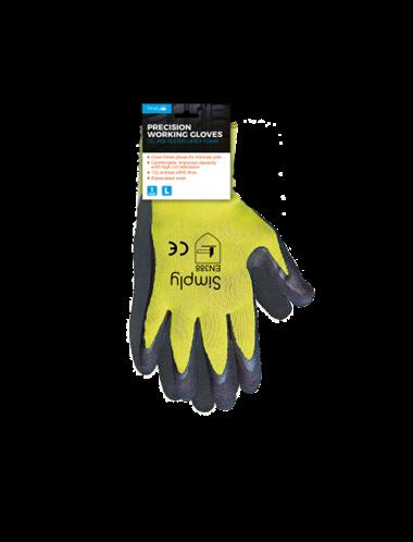 Simply Γάντια Εργασίας XL Κίτρινα Μάυρα