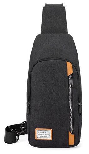 ARCTIC HUNTER Τσάντα Crossbody GXB00106-BK αδιάβροχη μαύρη
