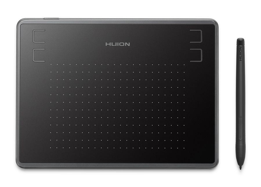 "HUION pen tablet H430P 4.8 x 3"" battery-free pen 4 πλήκτρα μαύρο"