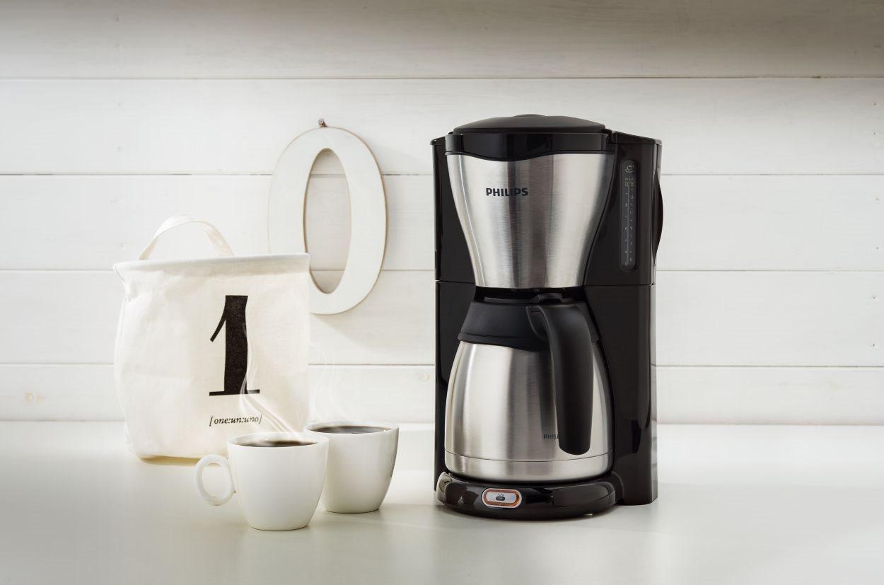Philips Καφετιέρα Φίλτρου 1000W με κανάτα-θερμός 1.2lt Café Gaia HD7546/20