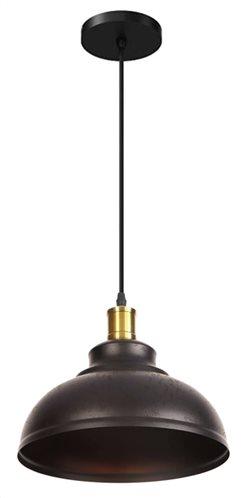 POWERTECH φωτιστικό οροφής HLL-0009 E27 μεταλλικό vintage μαύρο