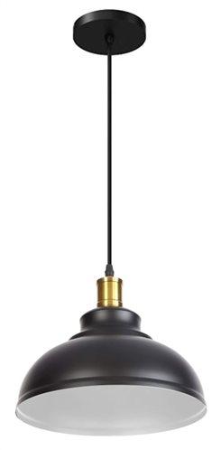 POWERTECH φωτιστικό οροφής HLL-0010 E27 μεταλλικό λευκό-μαύρο