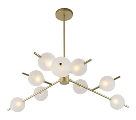 POWERTECH πολύφωτο φωτιστικό οροφής HLL-0025 9x G9 μεταλλικό χρυσό