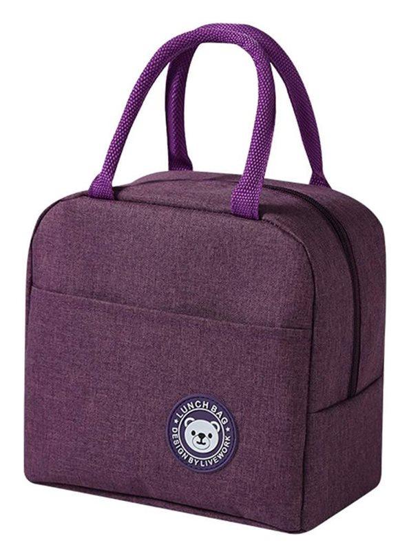 Ισοθερμική Τσάντα Αδιάβροχη Μοβ 23x13x21cm 7lt HUH-0011