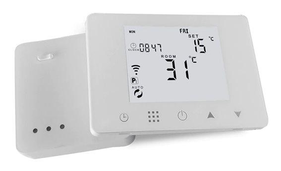 HYSEN Έξυπνος ασύρματος RF θερμοστάτης καλοριφέρ HY09RF-WIFI touch