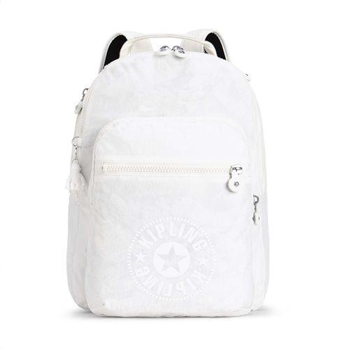 Kipling Τσάντα πλάτης με θέση για Laptop Clas Seoul Lively White