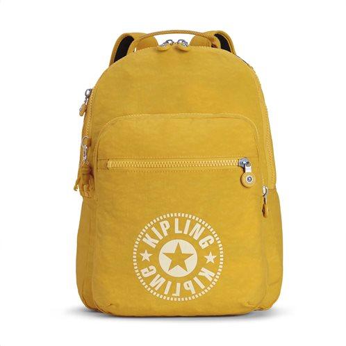 Kipling Τσάντα πλάτης με θέση για Laptop Clas Seoul Lively Yellow