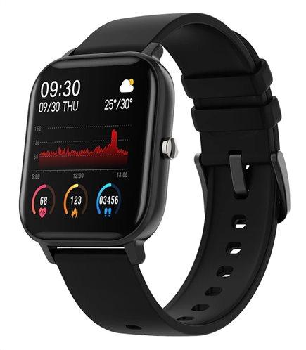 """ΙΝΤΙΜΕ Smartwatch P8 1.4"""" έγχρωμο IPX7 HR & Blood pressure μαύρο"""