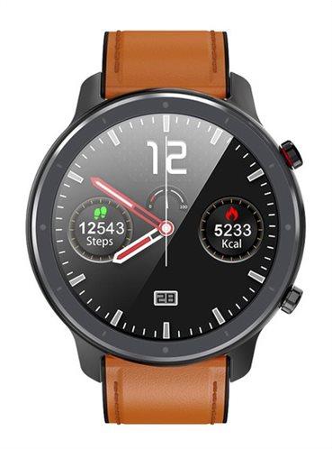 """ΙΝΤΙΜΕ Smartwatch L11 1.3"""" έγχρωμο IP68 HR & Blood pressure μαύρο"""