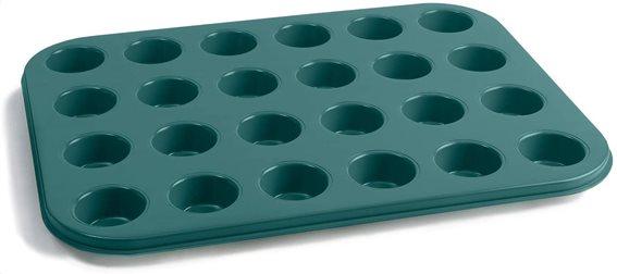 Jamie Oliver Φόρμα Αντικολλητική Πράσινη 35x27x2cm - για 24 Mini Muffins