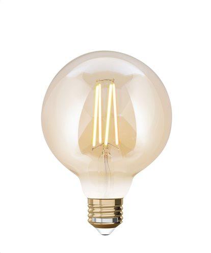 iDual Έξυπνη Λάμπα LED Filament μελί Smart G95 9W E27 CCT 2200K-5500K 230V - Χωρίς τηλεκοντρόλ