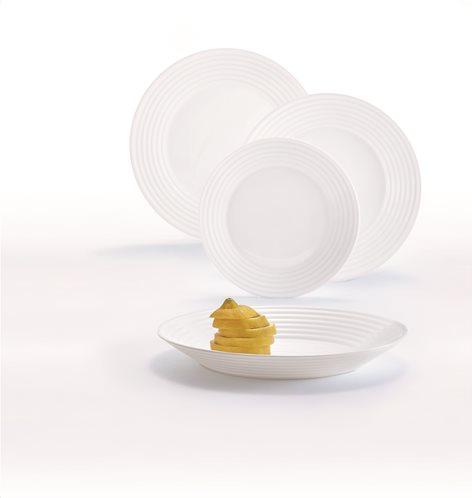 LUMINARC Σετ Φαγητού 18τμχ Λευκό HARENA - L3270
