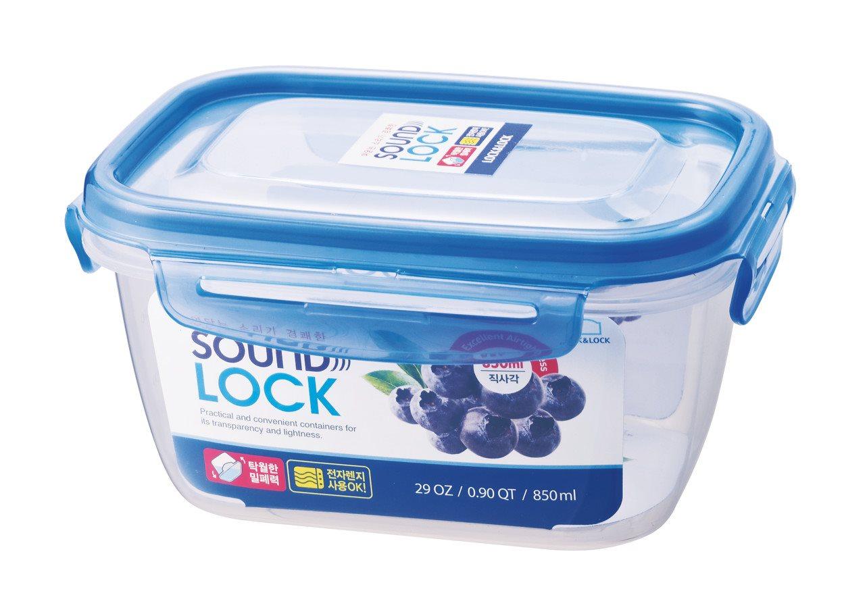 LOCK LOCK Δοχείο Παραλληλόγραμμο 850ml 16.7x12.5x8.7 εκ. Sound Lock - LEP532