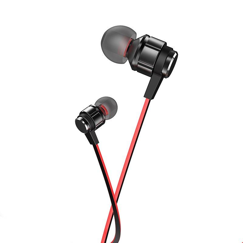 HOCO M85 Platinum sound universal earphone με μικρόφωνο magic black night