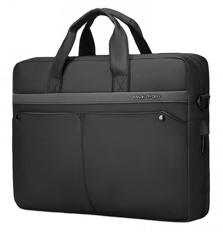 "MARK RYDEN τσάντα ώμου MR8001D με θήκη laptop 15.6"" 9.6L μαύρη"