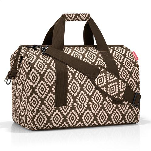 Reisenthel τσάντα ταξιδίου allrounder L σειρά Diamonds Mocha