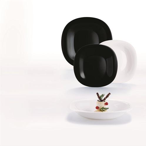 LUMINARC Σετ Φαγητού 18τμχ Λευκό-Μαύρο CARINE - N1489