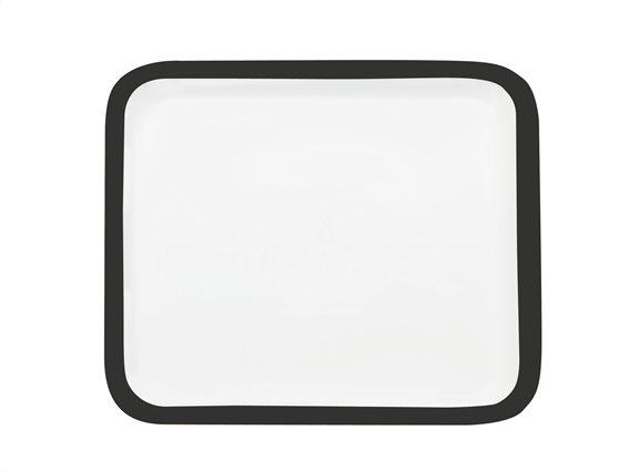 Maxwell & Williams Πιατέλα Τετράγωνη με Μαύρο Περίγραμμα Πορσελάνη 30cm Colour Basics P431030