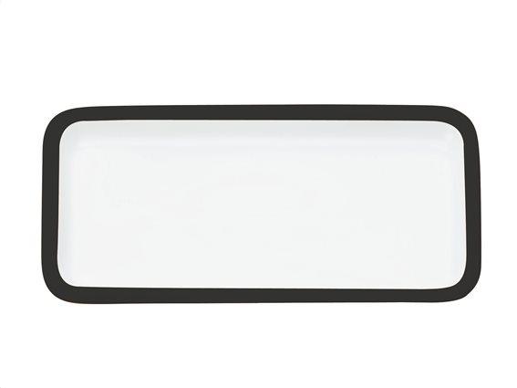 Maxwell & Williams Πιατέλα Ορθογώνια Παραλληλόγραμμη Μαύρο Περίγραμμα Πορσελάνη 20x11cm Colour Basics