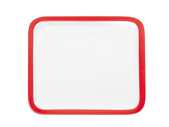 Maxwell & Williams Πιατέλα Τετράγωνη Κόκκινο Περίγραμμα Πορσελάνη 30cm Colour Basics