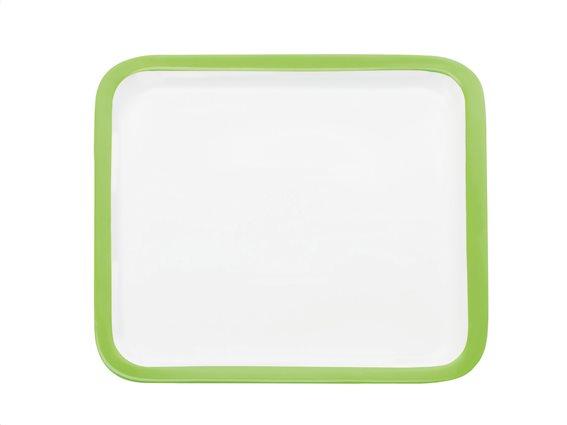 Maxwell & Williams Πιατέλα Τετράγωνη με Πράσινο Περίγραμμα Πορσελάνη 30cm Colour Basics