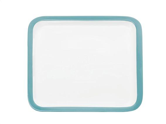 Maxwell & Williams Πιατέλα Τετράγωνη με γαλάζιο Περίγραμμα Πορσελάνη 30cm. Colour Basics P435030