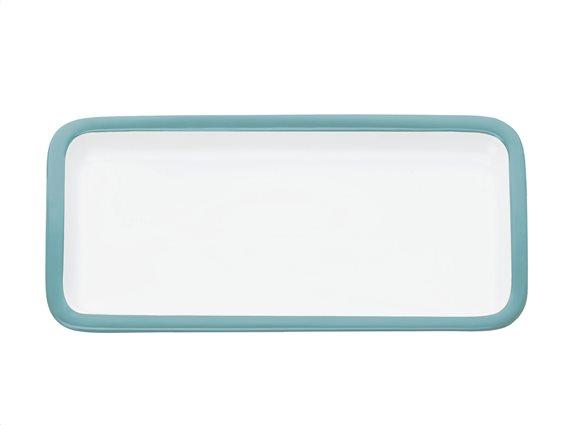 Maxwell & Williams Πιατέλα Ορθογώνια Παραλληλόγραμμη Γαλάζιο Περίγραμμα Πορσελάνη 20x11cm Colour Basics