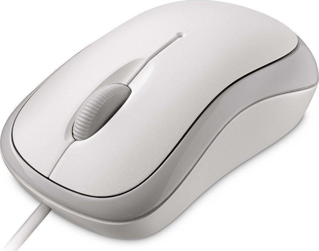 Micosoft Ενσύρματο Ποντίκι Basic Λευκό