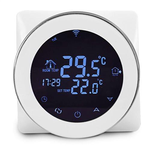 POWERTECH Έξυπνος θερμοστάτης καλοριφέρ PT-782 WiFi touch screen