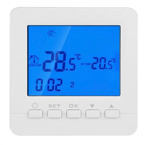 POWERTECH Έξυπνος θερμοστάτης καλοριφέρ PT-784 WiFi touch screen