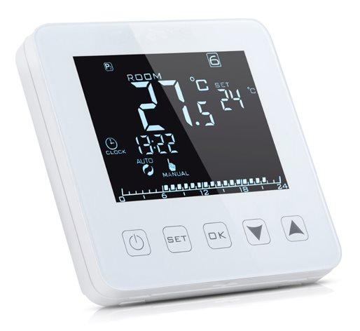 POWERTECH Έξυπνος θερμοστάτης καλοριφέρ PT-785 WiFi touch screen