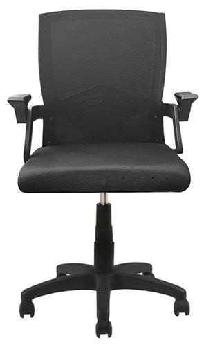 Powertech Καρέκλα Γραφείου με Ρυθμιζόμενα Μπράτσα PT-963 Μαύρη