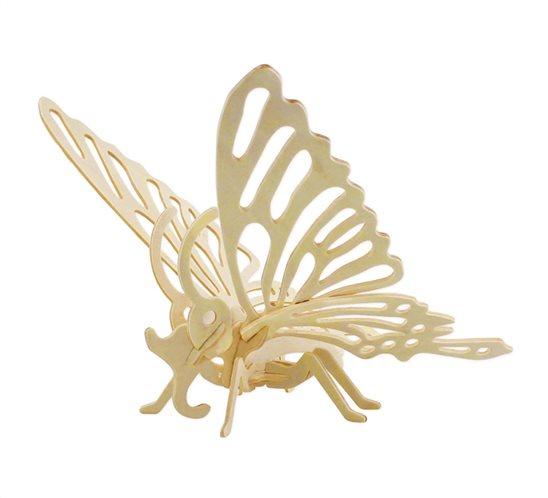 ROWOOD Ξύλινο 3D πάζλ πεταλούδα JP204 16τμχ
