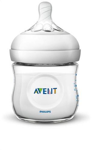 Philips Avent Μπιμπερό Πλαστικό Natural με Θηλή Σιλικόνης για Νεογνά 0m+ 125ml SCF030/17