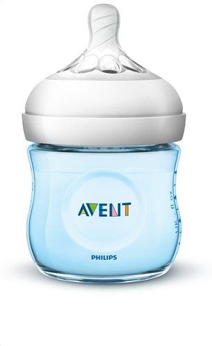 Philips Avent Μπιμπερό Πλαστικό Natural με Θηλή Σιλικόνης για Νεογνά 0m+ 125ml SCF032/17 Κατάλληλο για Κολικούς