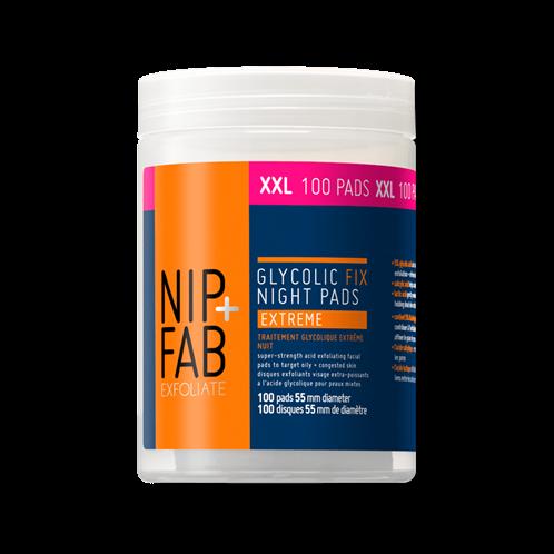 Nip+Fab εμποτιμένα pads GLYCOLIC FIX EXTREME XXL PADS 100ml