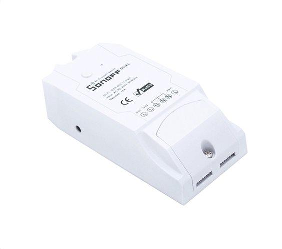 SONOFF Smart Διακόπτης Dual 2 θέσεων 15A WiFi λευκό