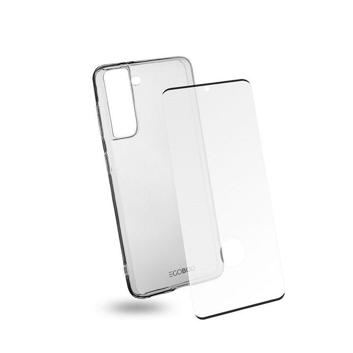 EGOBOO Tempered Glass + Case TPU Transparent (Samsung S21 4G)