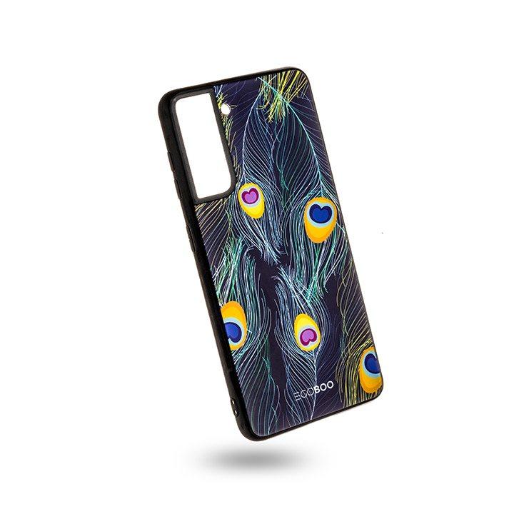 EGOBOO Case Glass TPU Peacock (Samsung S21 Ultra)