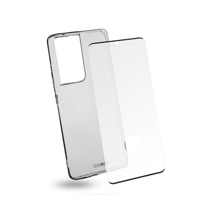 EGOBOO Tempered Glass + Case TPU Transparent (Samsung S21 Ultra)