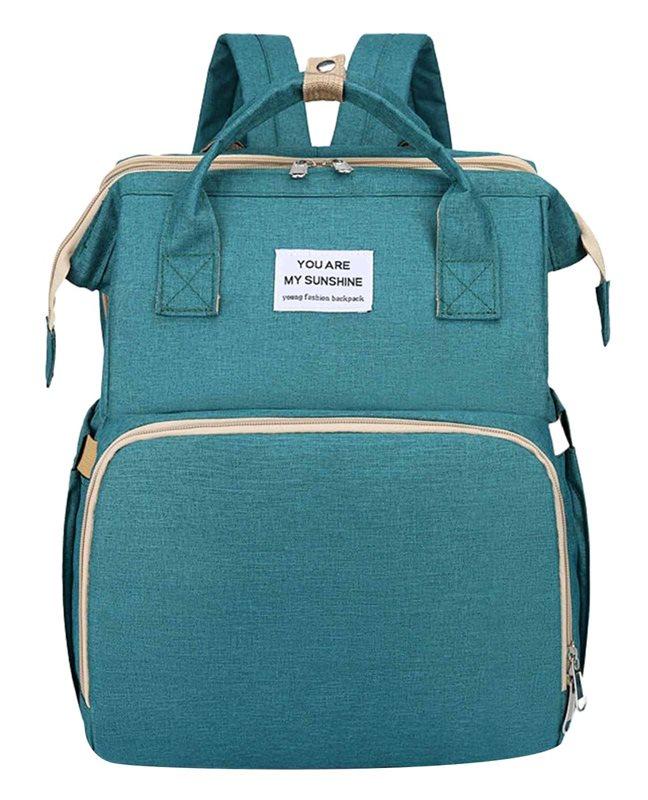 Τσάντα Πλάτης που γίνεται Βρεφικό Κρεβατάκι 2-σε-1 TMV-0050 πράσινη
