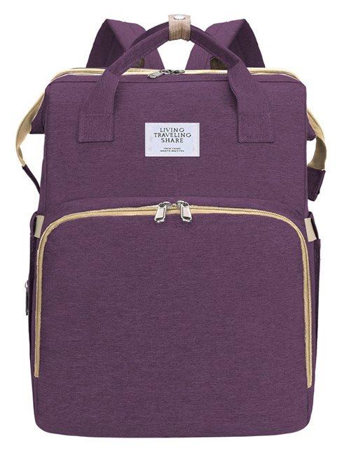 Τσάντα Πλάτης που γίνεται Βρεφικό Κρεβατάκι 2-σε-1 TMV-0051 μοβ