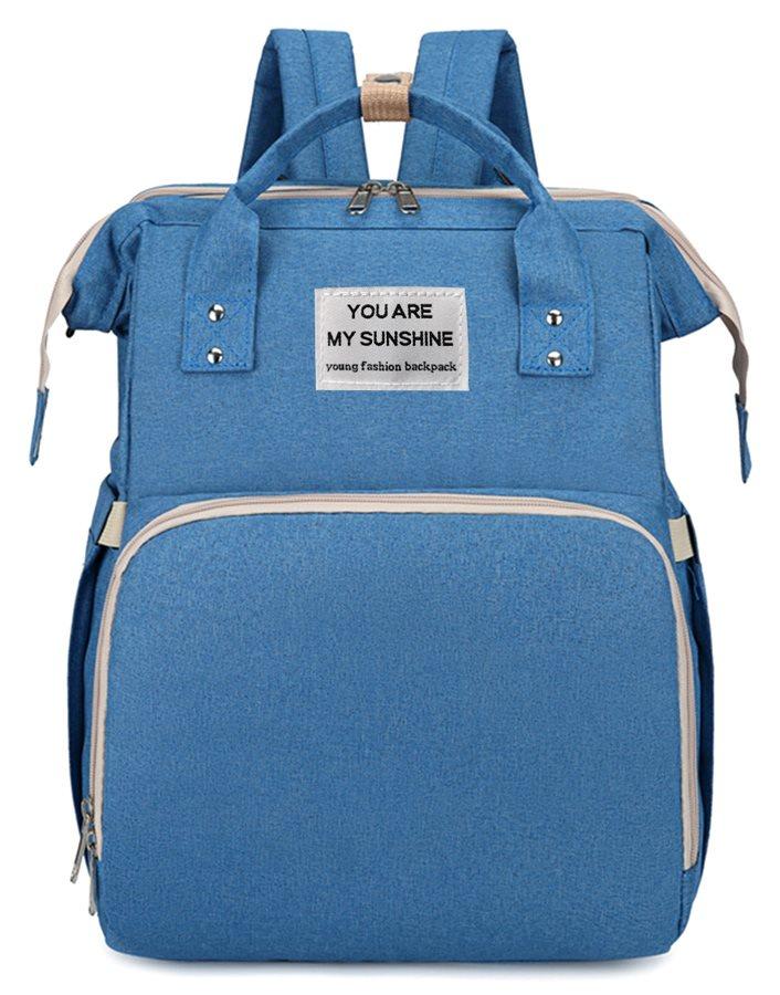 Τσάντα Πλάτης που γίνεται Βρεφικό Κρεβατάκι 2-σε-1 TMV-0052 Μπλε