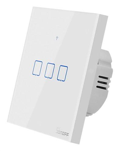 SONOFF smart διακόπτης ΤΧ-T2EU3C αφής Wi-Fi τριπλός λευκός